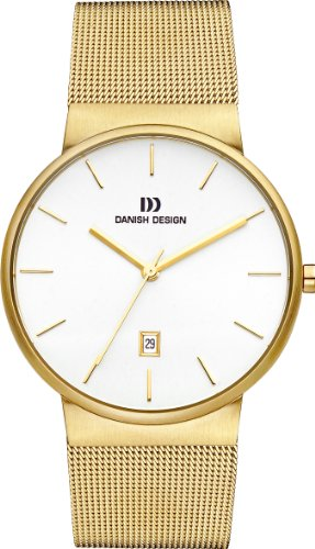 Danish Design IQ05Q971 Gold Tone Stainless Steel White Dial Men's Watch