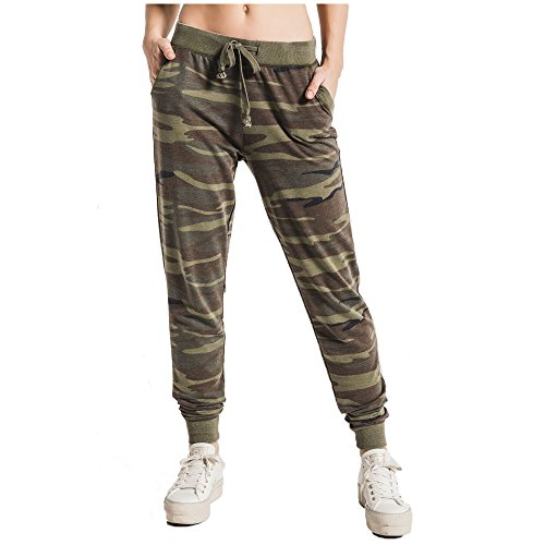 Z SUPPLY Women's The Camo Jogger Relaxed Fit Pant, Camouflage, - Sweatpants Camo