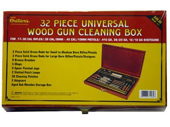Outers 32 - Piece Universal Gun Wood Cleaning Box (.17 Caliber and up)
