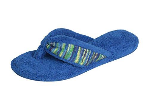 Beverly Rock Dames Spa String Slipper Slippers In Leuke Chique Geborduurde Kleuren Blauw / Groen
