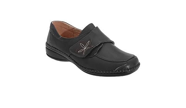 Boulevard - Zapatos casuales de ancho especial con cierre adhesivo para mujer: Amazon.es: Zapatos y complementos