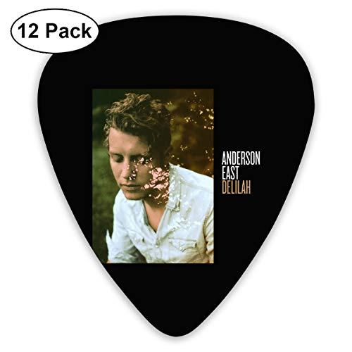 ElijahO Anderson East Delilah Celluloid Guitar Picks Plectrums (12 Pack) for Electric Guitar, Acoustic Guitar, Mandolin, and Guitar Bass