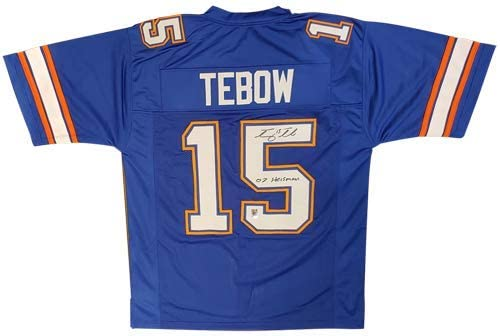 Tim Tebow Autographed Florida Gators (Blue #15) Jersey w/
