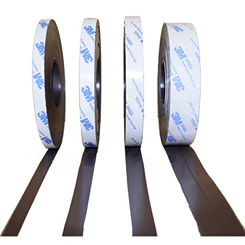AUSWAHLANGEBOT! 3M Magnetband selbstklebend - 10mm - 12,7mm - 15mm -24,5mm - Typ A - Typ B - Kombi - (Typ A + Typ B, 10mm)