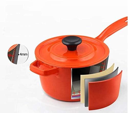 HYYDP Pot Pot à soupe émail pot à lait bébé complément de nourriture pour bébé pot à la maison multi-fonction pot à soupe sans revêtement casserole avec couvercle poêle