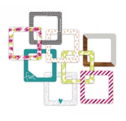 Project Life Accessories Heidi Swapp-4 x 4-Insta Frames-Chipboard (8 Piece) by Project Life