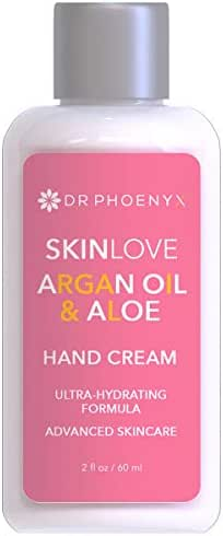 Dr. Phoenyx Hydrating Argan Oil Hand Cream Enriched with Aloe, Shea Butter, Coconut Oil, Vitamin E - Coconut Colada Fragrance, Net Wt. 2.6 oz