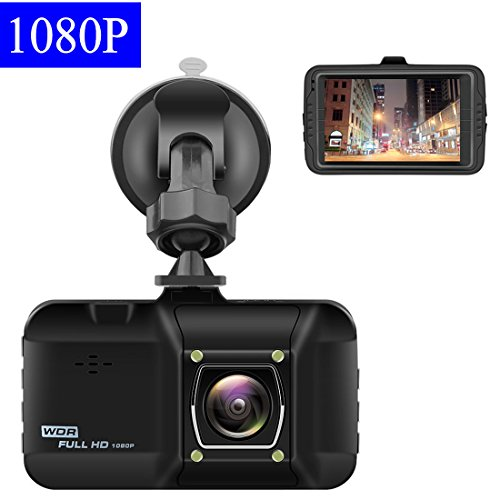Dash Cam 3.0 Inch Car Camera – OKEEY 1080P FHD Dashboard Cam Recorder 170 ° Wide Angle WDR Built In G-Sensor Loop Recording 24 Hours Parking Monitoring with Night Vision