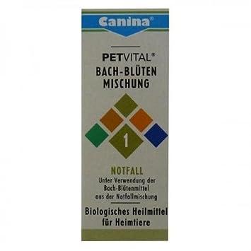 Canina Pharma Petvital Flores de bach Núm 1 - Emergencia 10g ...