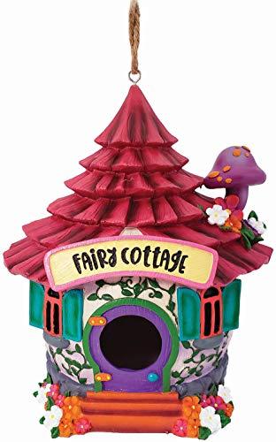 Spoontiques 10162 Fairy Cottage Birdhouse, Multicolored