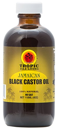 Tropic Isle Jamaican Black Castor Oil, 4 Oz Plastic PET Bottle