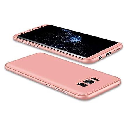 JMGoodstore Funda Galaxy S8 Plus,Carcasa Samsung S8 Plus,Funda 360 Grados Integral para Ambas Caras+Cristal Templado,[ 360°] 3 in 1 Slim Fit ...