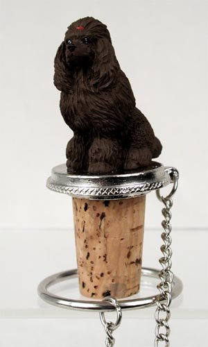 Chocolate Poodle Wine Bottle Stopper - From Conversation ...