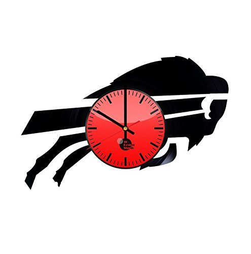 Nfl Genuine Jersey Black Football - Buffalo Bills Vinyl Record Wall Clock Living Room Home Decor