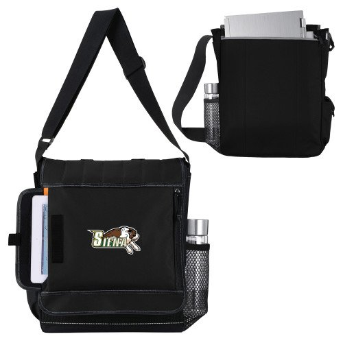 Siena Impact Vertical Black Computer Messenger Bag 'Official Logo' by CollegeFanGear