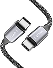 UNAMAK USB C to USB C Cable 6.6FT (60W 20V/3A) Compatible with iPad Pro 2020 2018, MacBook, MacBook Pro, Pixel, Samsung Galaxy S20, Chromebook and USB-C Mobile Phones-Gray