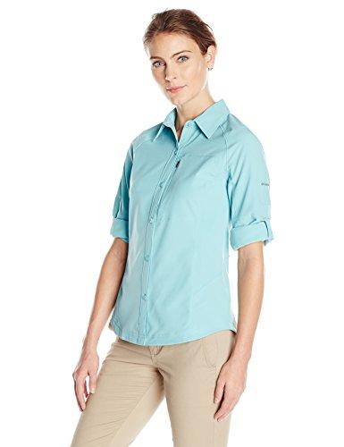 Columbia Womens Silver Ridge Long Sleeve Shirt, Iceberg, Large