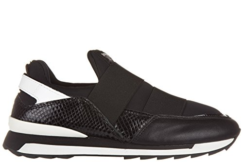 Hogan Rebel slip on femme en cuir sneakers noir