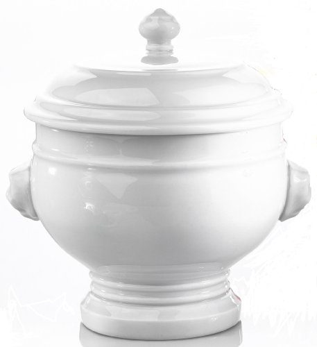 Pillivuyt 2-Cup Porcelain Lion's Head Tureen with Lid