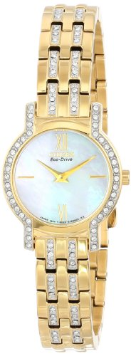 Citizen Women's EX1242-56D Eco-Drive Silhouette Crystal Watch