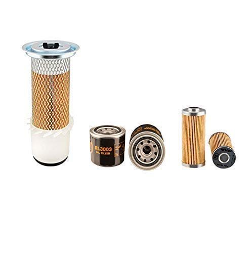 HITACHI EX 30-2 Filter Service Kit w/Kubota V 1505 Eng. Air, Oil, Fuel Filters: