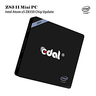 Edal Z83-II Mini PC Windows 10 Intel Atom x5-Z8350 Processor Intel HD Graphics 400 DDR3 2GB + Windows(C:) 32GB 1000Mbps LAN IEEE 802.11a/b/g/n?2.4G+5.8G WiFi BT 4.0