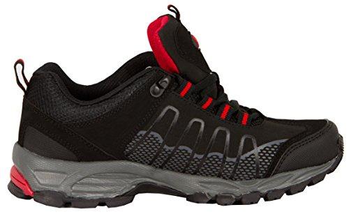 Scarpe da Scarpe Mountain Guggen da Montagna Shoe Scarpe Escursionismo Donna T002 Trekking Mountain da Nero EwI5wdq