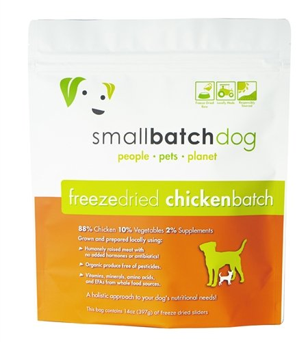 SMALL BATCH FREEZE DRIED BATCH SLIDERS, DOG 14OZ (Chicken) by Small Batch