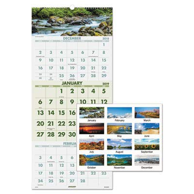 lance Recycled Scenic 3-Month Wall Calendar ()
