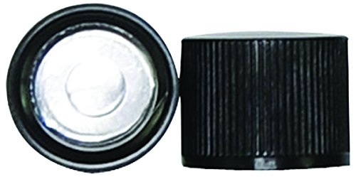 Black Pack of 666 10 mm Wheaton 110060-666 Polypropylene Cap with Foil Liner Fits Dram Vial 151062