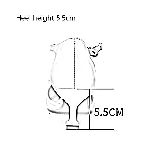 Sandals CJC Womens Ladies Closed Toe Fashion Leather High Heel Strap Strappy College Party Dating (Color : 3.5cm, Size : EU37/UK4.5-5) 5.5cm