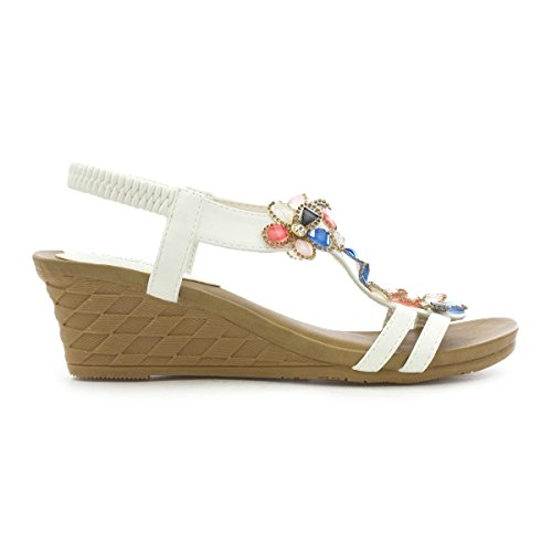 Cushion Walk Womens Wedge Sandal White nhgefJKpk
