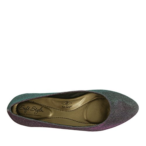 Morbido Stile Hush Puppies Womens Darlene Flat Fushia, Blue Cosmic