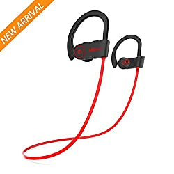Bluetooth Headphones,Miltuu Wireless Sports Earphones in-Ear Earbuds with Mic Sweatproof Bass HD Stereo for Gym Running Workout 8 Hour working time Noise Cancelling Headsets for Men Women V4.1 by Miltuu