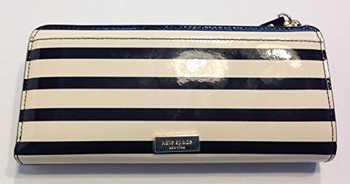 Kate-Spade-Chelsea-Park-Patent-Stripe-Nisha-Clutch-BlackCream-WLRU1913