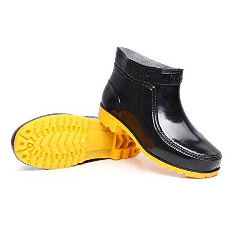 Cortas Botas Agua Negro Black Hombres De 44Zacw8q
