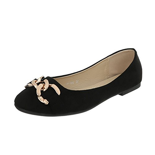 Slippers Flats Ital at 1 Women's Design A Loafer Flat 166 Black wqXXBtr