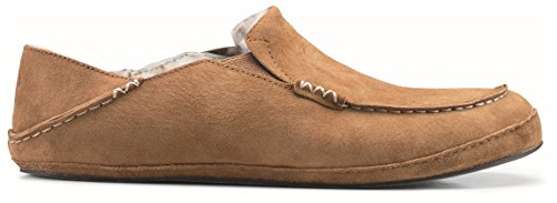 OLUKAI Men's Tobacco/Tobacco Moloa Slipper 10 D(M) US