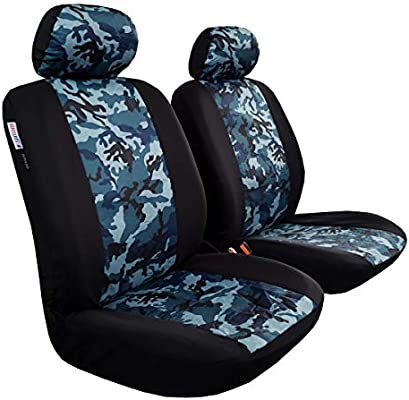 Marvelous Seakomoto Blue Camo Seat Covers For Trucks Cars Suv Front Forskolin Free Trial Chair Design Images Forskolin Free Trialorg