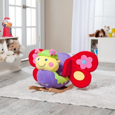 Butterfly Horse Rocking (Charm Company Butterfly Rocker with Musical Sound)