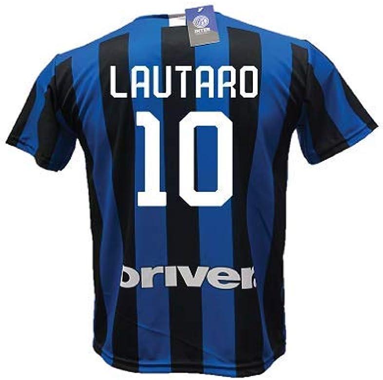 Camiseta de fútbol Inter Lautaro Martinez 10, réplica autorizada 2019-2020 para niño (tallas 6 8 10 12) adulto (S M L XL): Amazon.es: Ropa y accesorios