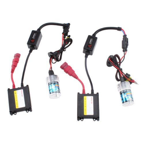 HID Xenon Light Slim Ballast Kit With Two 9006 6000K Bulbs