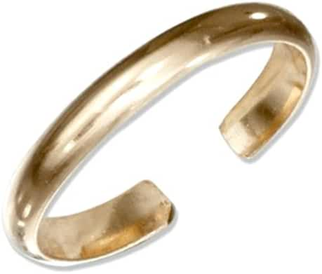 Gold Toe Ring One Size Fits All Most