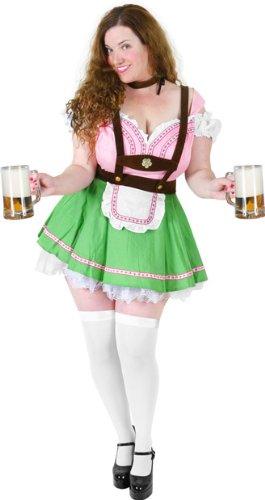 Bavarian Beer Garden Girl Adult Costume - Plus Size 1X -