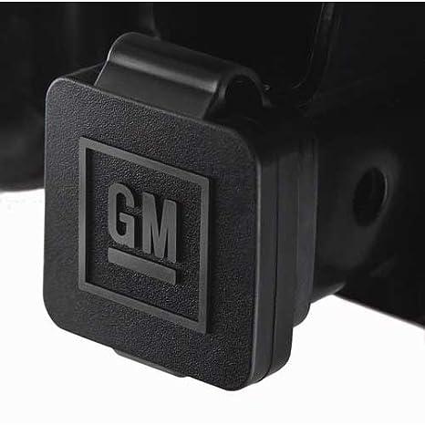 amazon com gm 12496641 hitch receiver cover with gm logo automotive