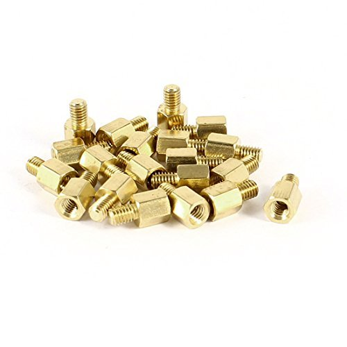 Star Mm Spacer 7 (Water & Wood 20 Pcs PC PCB Motherboard Brass Standoff Hexagonal Spacer M3 5+4mm)