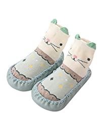 VEKDONE Unisex Baby Cute Cartoon Socks Non-skid Floor Sock for Newborn Toddlers
