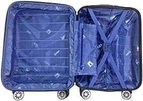 LYS Valise Cabine Extensible Gris fonc/é 55x37x20 cm Plus 7 cm 4 Roues doubl/ées ABS Rigide