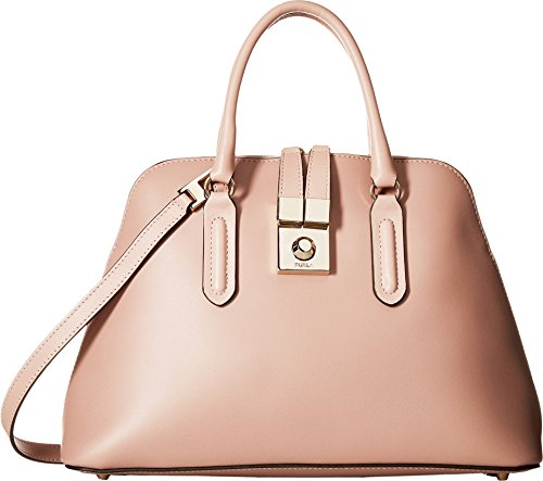 Furla Women's Peggy Medium Dome Satchel, Moonstone, One Size
