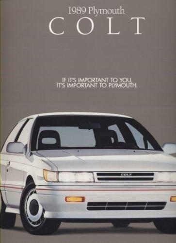 1989 Plymouth Mitsubishi Colt and Turbo 12-page Car Sales Brochure Catalog
